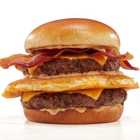 Hamburger, Food, Dish, Breakfast sandwich, Junk food, Cheeseburger, Fast food, Ingredient, Cuisine, Burger king premium burgers,