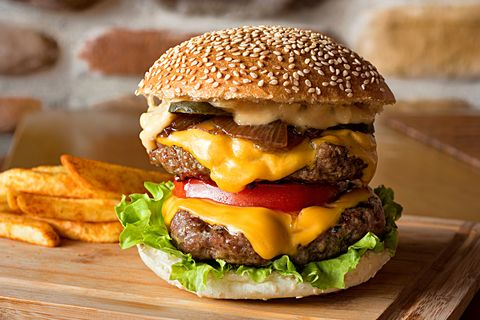 Food, Hamburger, Fast food, Junk food, Dish, Cuisine, Buffalo burger, Breakfast sandwich, Cheeseburger, Veggie burger,