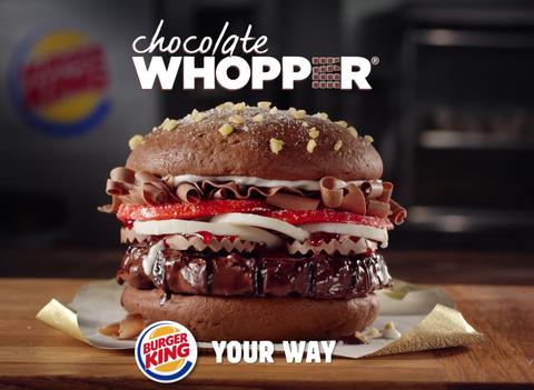 burger king hamburguesa chocolate