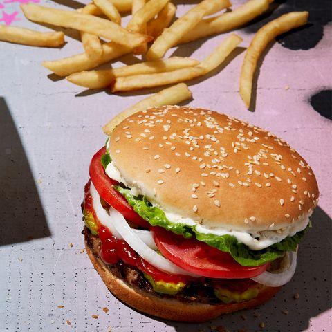 Dish, Food, Hamburger, Fast food, Junk food, Cuisine, Veggie burger, Cheeseburger, Original chicken sandwich, Whopper,