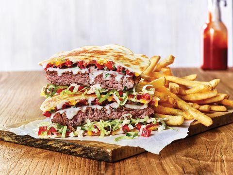 Dish, Food, Cuisine, Ingredient, Pastrami, Junk food, Fast food, Bacon sandwich, Sandwich, Meat,