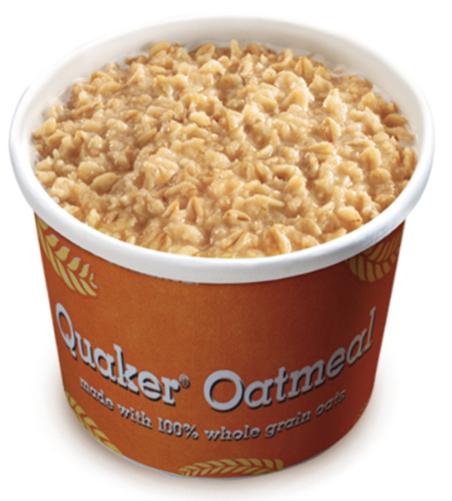 burger king oatmeal