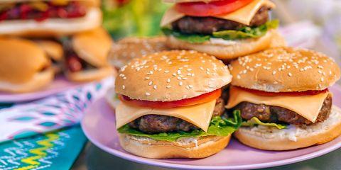 Dish, Food, Hamburger, Fast food, Cuisine, Cheeseburger, Slider, Veggie burger, Junk food, Buffalo burger,