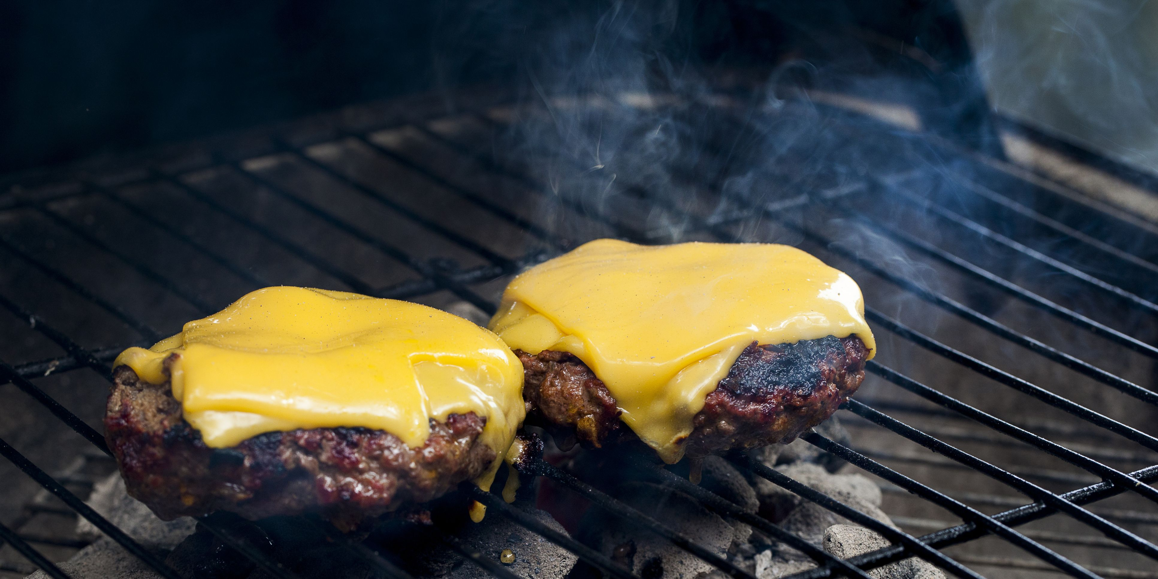 Burgers on Charcoal Grill
