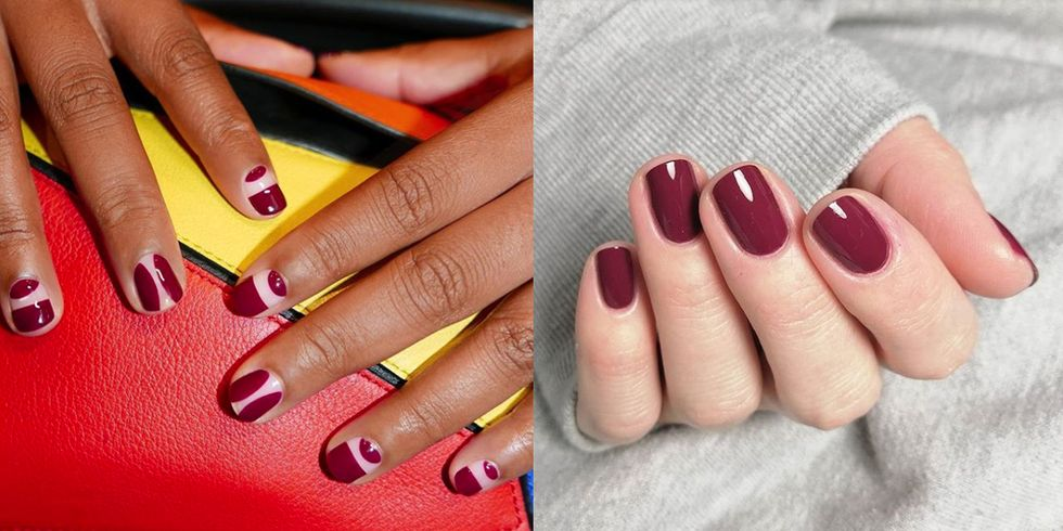 13 Ways to Wear Burgundy Nail Polish, the Color That Never Goes Wrong