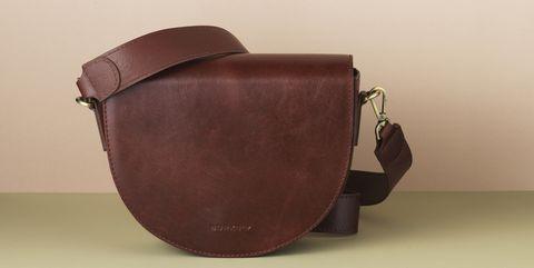 leren burkley saddle crossbody bag met koord