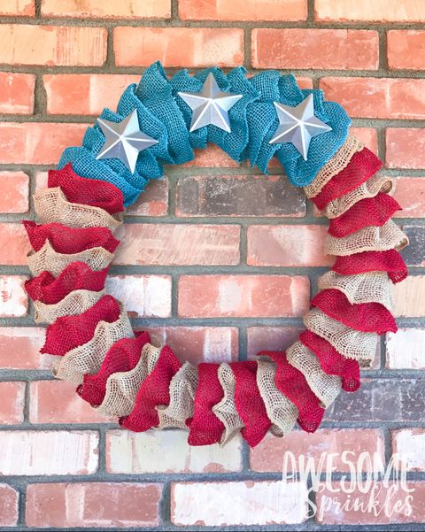 fourth of july wreath, 4th of july wreath