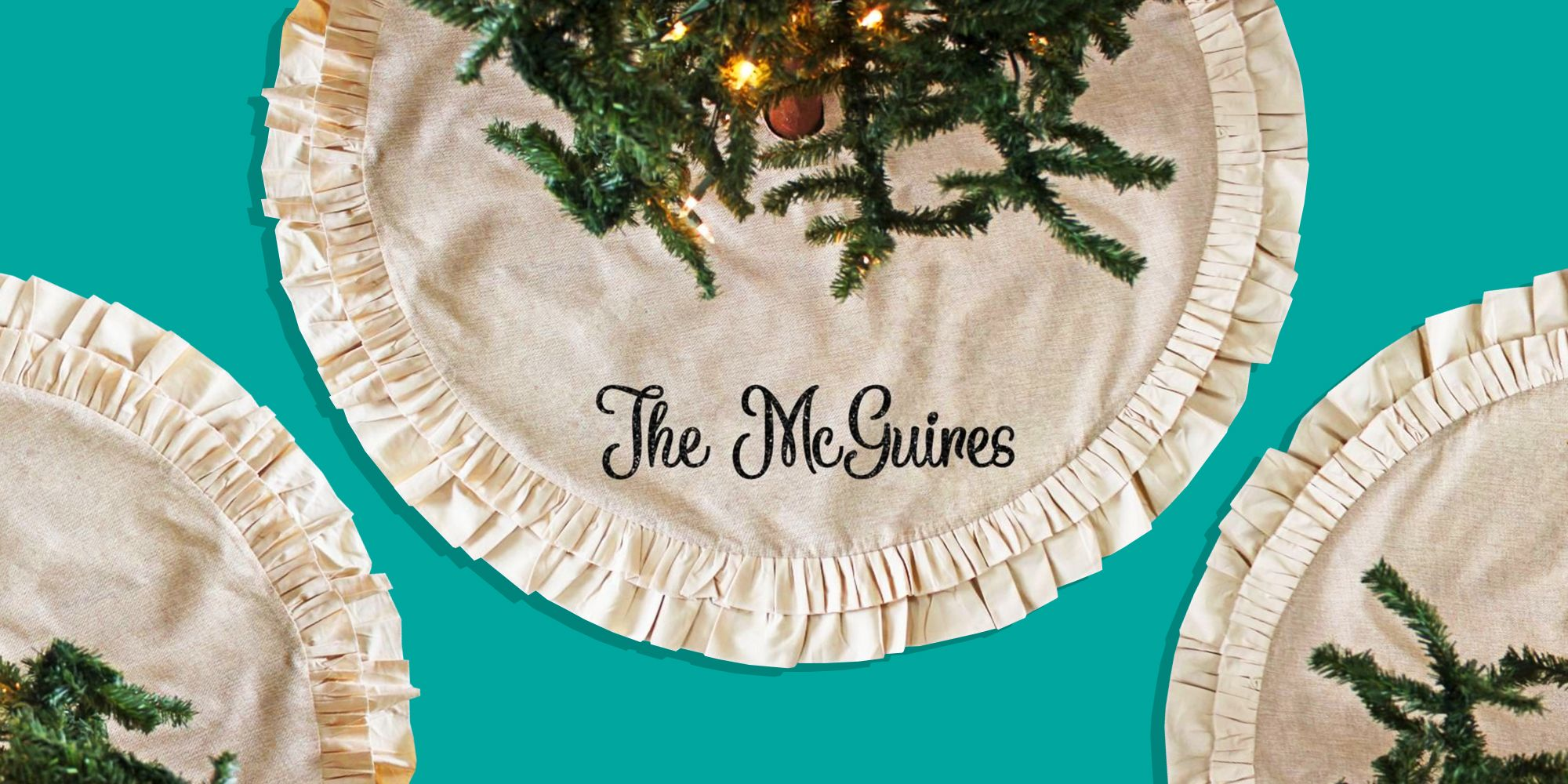 10 Best Burlap Christmas Tree Skirts for 2018 - Rustic & Natural ...