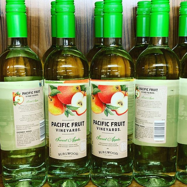 burlwood cellars pacific fruit vineyards sweet apple wine from aldi