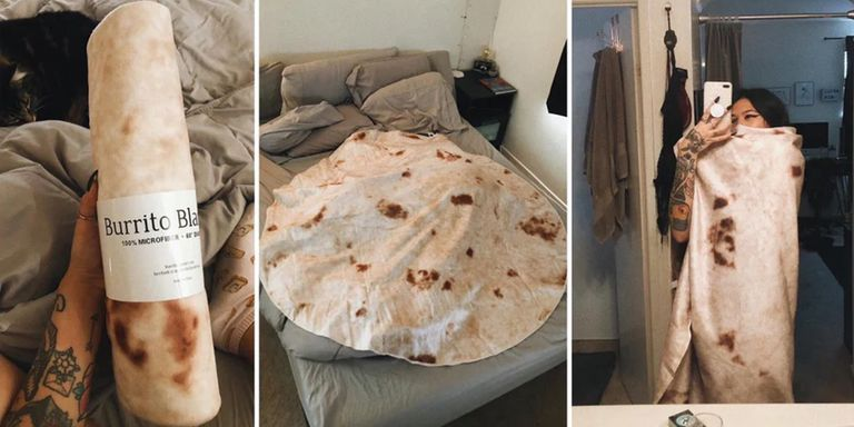 Wrap Yourself Up In A Tortilla Blanket Like The Burrito