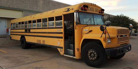Tire, Motor vehicle, Wheel, Mode of transport, Transport, Yellow, Vehicle, School bus, Bus, Automotive parking light,