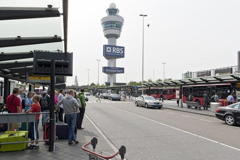 bus station at schiphol airport