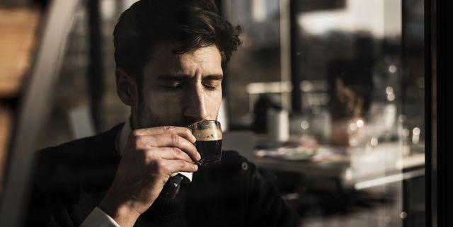 businessman enjoying his coffee