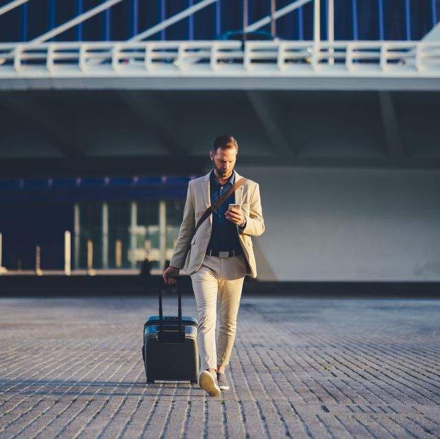 businessman on business trip in spain