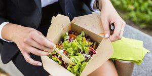 slechte lunchgewoonte