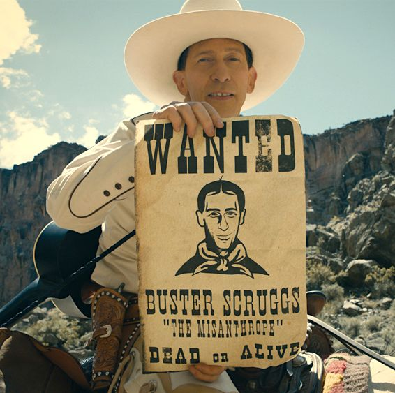 The Ballad of Buster Scruggs The Coen Brothers teamed up with the streaming service for this Netflix original, an anthology film featuring six stories set in the American west that's full of outlaws, pioneer women, double-crossing, and one singing cowboy.