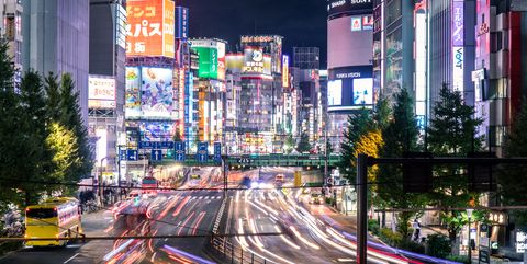 Busy Streets in Tokyo and the view of Tokyo street / Tokyo, Japan
