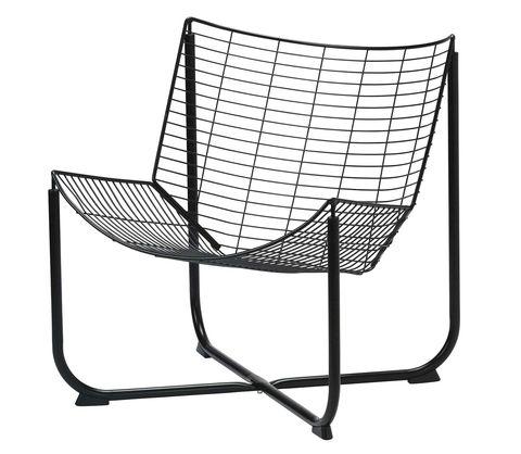Sillón de metal negro Raane, de IKEA
