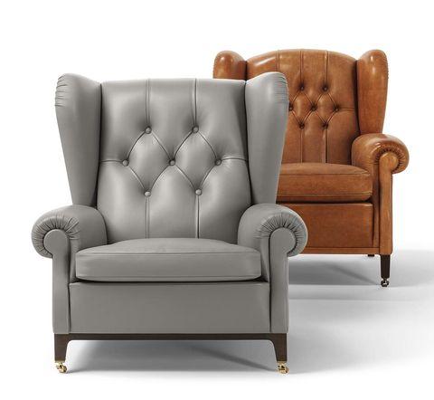 Salones: muebles en tendencia. Butacas de capitoné