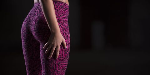 Butt in workout leggings