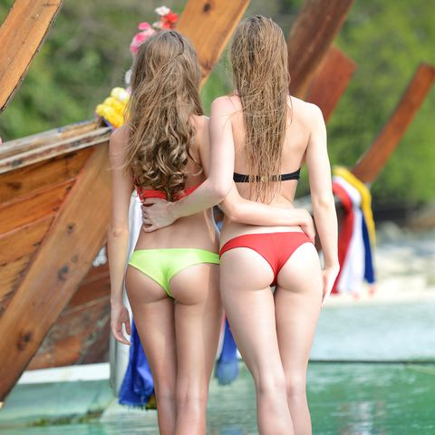 Perfect Rear View, Two Women in Thailand