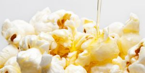 Butter Drizzling Over Popcorn