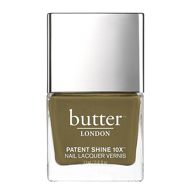 butter LONDON Patent Shine Nail Lacquer in British Khaki