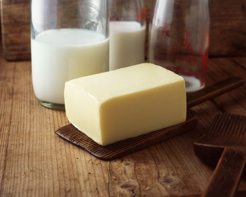 牛乳、バター
