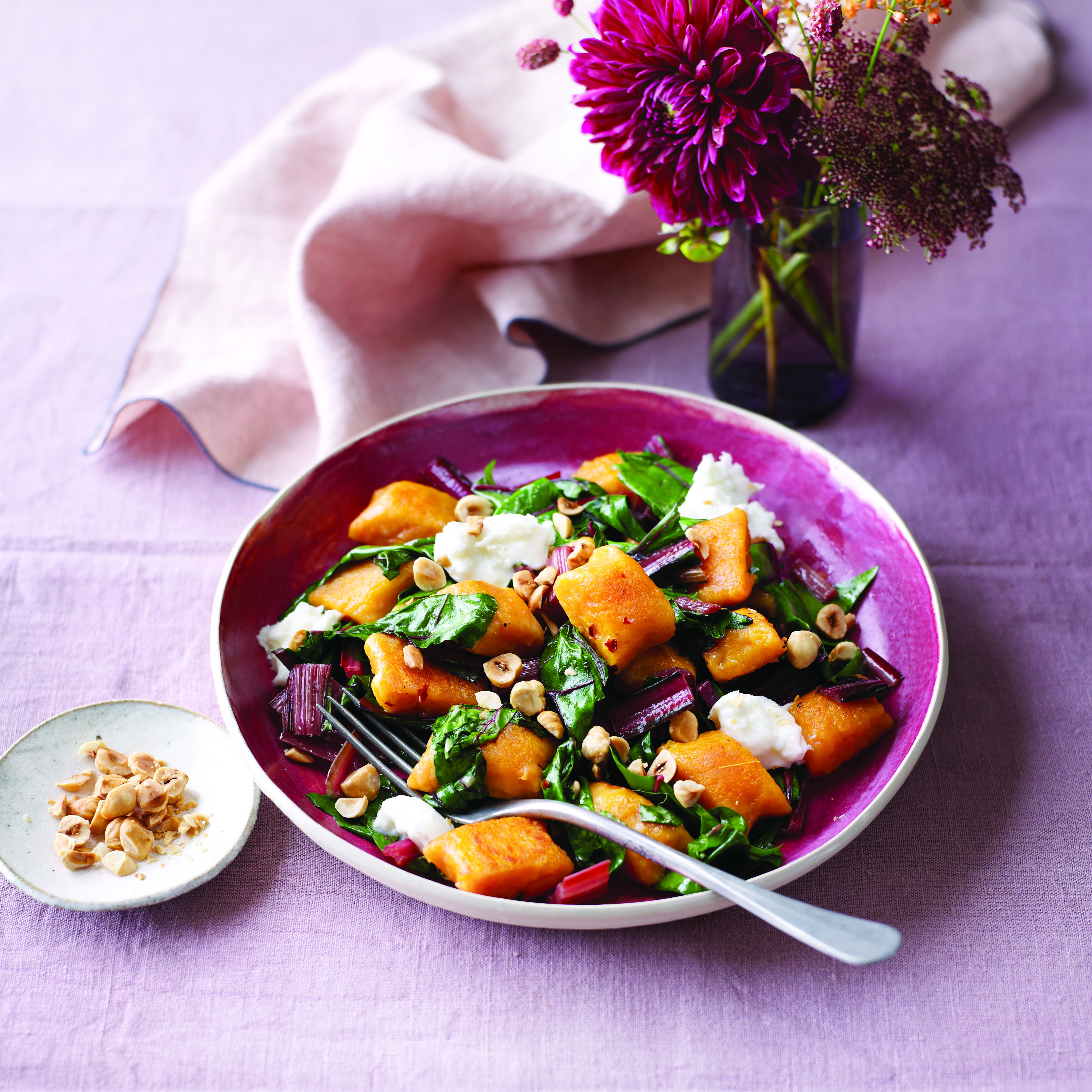 Butternut Gnocchi with Chard and Mozzarella