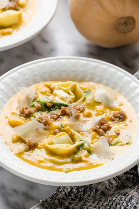 butternut squash sausage fall soup recipes