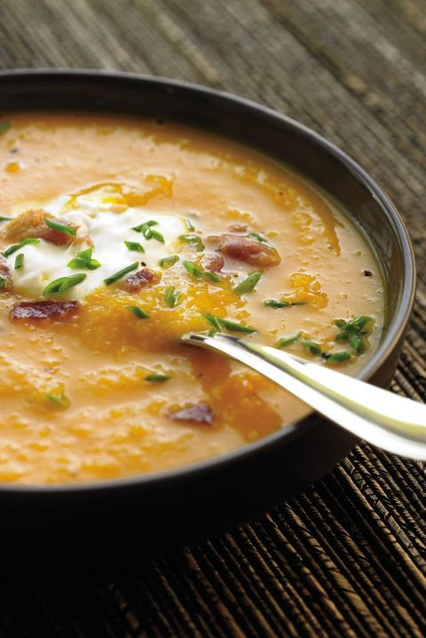 healthy diabetic thanksgiving recipes: butternut squash soup