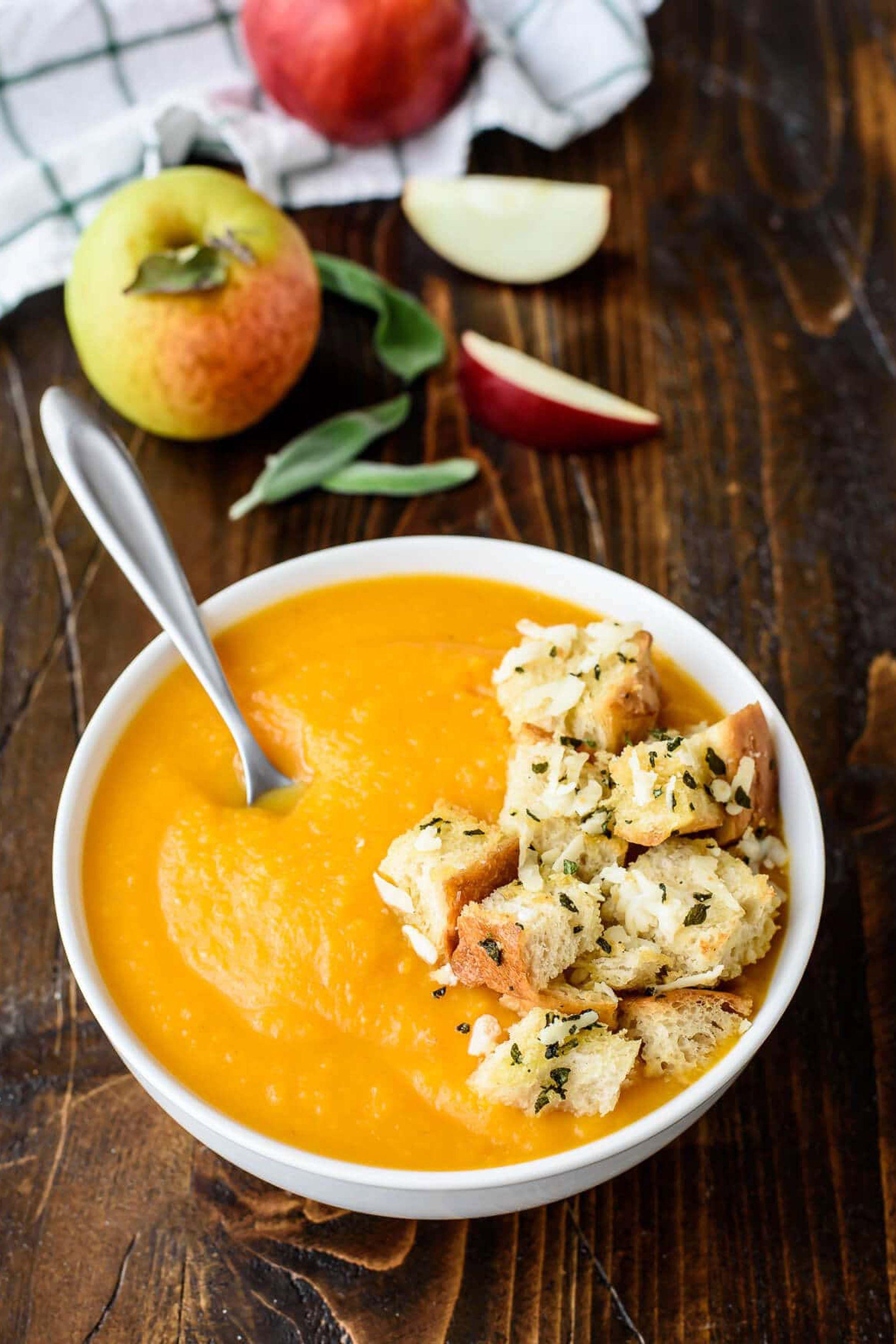 butternut squash soup apple