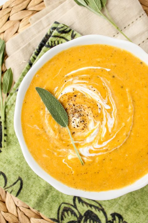 butternut squash soup roasted