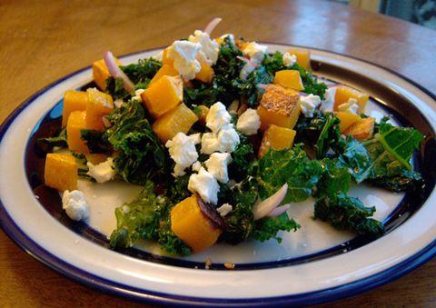 Butternut Squash and Kale Warm Fall Salad