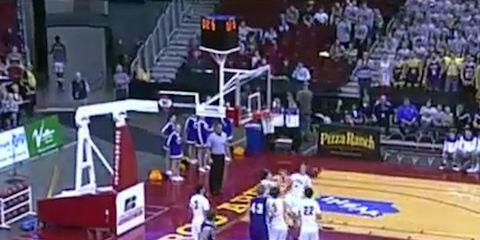 buzzer beater full court shot