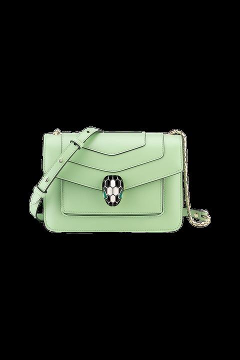 Bag, Green, Handbag, Shoulder bag, Fashion accessory, Wristlet, Leather, Rectangle, Kelly bag, Beige,