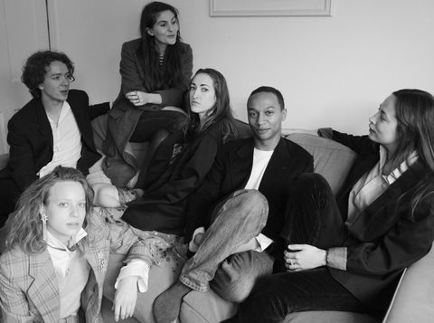 People, Social group, Sitting, Black-and-white, Event, Fun, Monochrome, Family, Photography, Team,