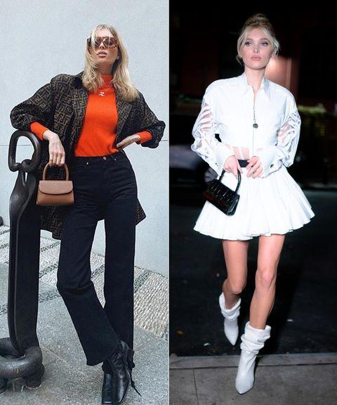 White, Clothing, Footwear, Street fashion, Fashion, Orange, Shoe, Leg, Joint, Shoulder,