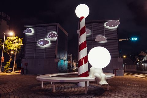 Sky, Night, Light, Lighting, Design, Street light, Architecture, Space, Darkness, Stage,