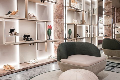 Furniture, Interior design, Room, Living room, Shelf, Table, Building, Shelving, Couch, Architecture,