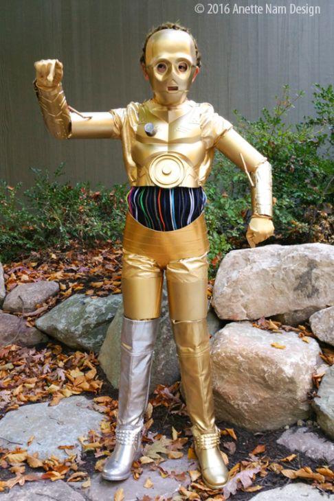 diy c-3po halloween costume