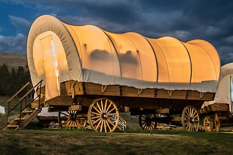 Wagon, Transport, Vehicle, Sky, Automotive wheel system, Landscape, Wheel,