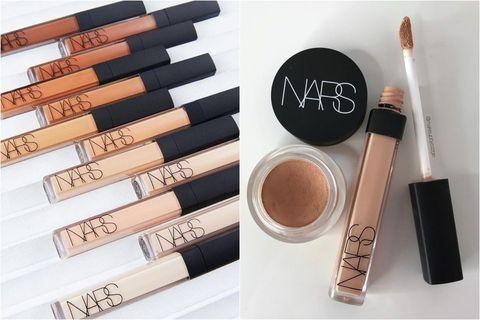 Cosmetics, Brown, Beauty, Eye, Eye liner, Eye shadow, Material property, Beige, Lip gloss, Makeup brushes,