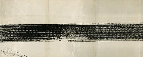 Robert Rauschenberg with John Cage. Automobile Tire Print (detail). 1953.