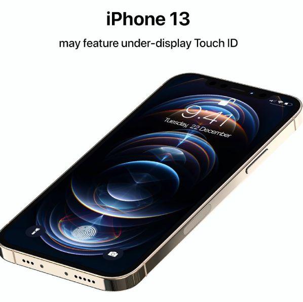 iphone 13「touch id回歸、剪瀏海」概念圖曝光!apple成功申請螢幕指紋辨識專利
