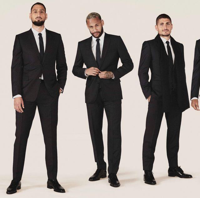 內馬爾帥氣演繹dior正裝!dior設計師kim jones為巴黎聖日耳曼足球俱樂部打造官方服飾