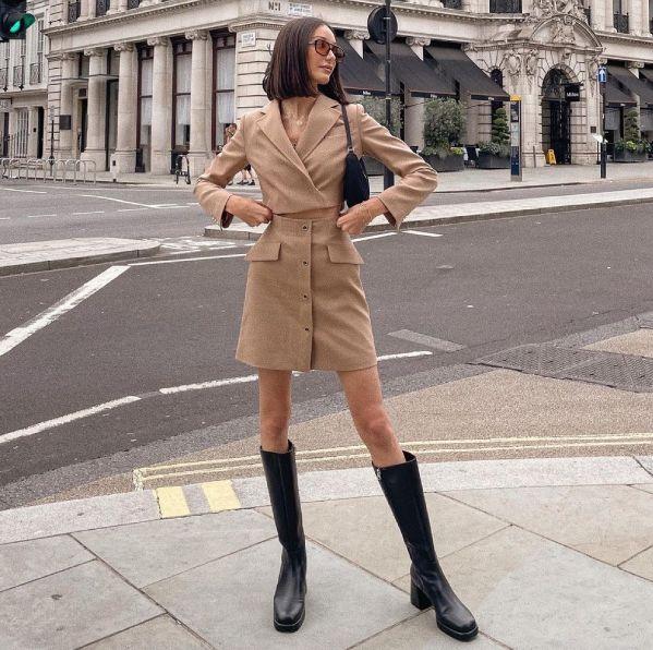 早秋必備單品「及膝長靴」推薦!15款率性時尚平底、粗跟等款式增加穿搭層次感