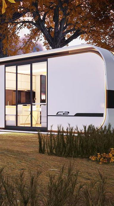 House, Home, Property, Architecture, Tree, Travel trailer, RV, Building, Vehicle, Trailer,