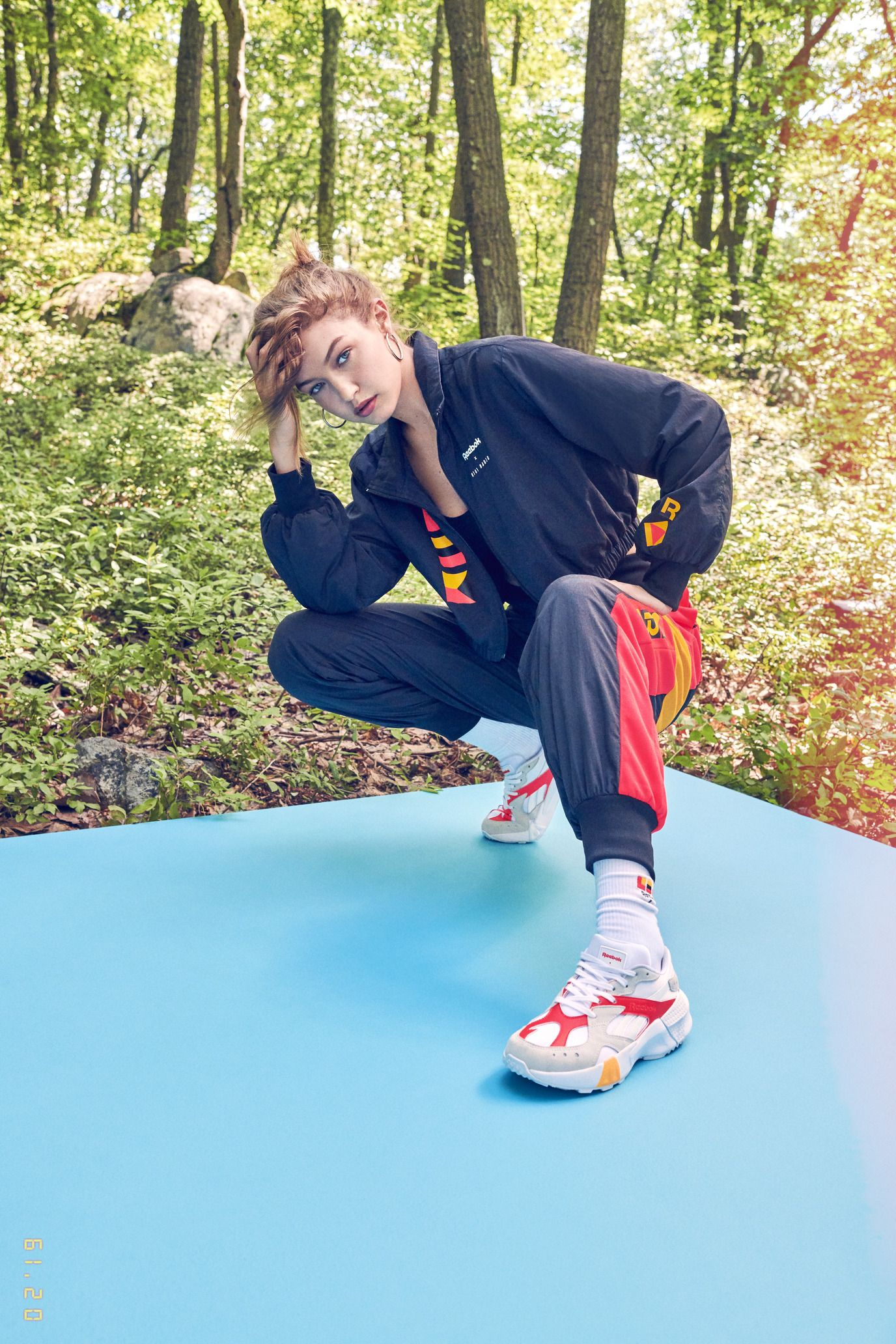 Gigi Hadid Looks to Her High School Volleyball Days for New Reebok  Collection 83e162e86