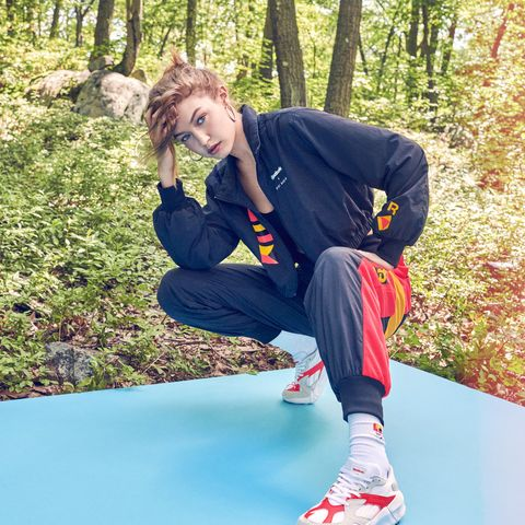 07c0c819 Gigi Hadid Looks to Her High School Volleyball Days for New Reebok ...